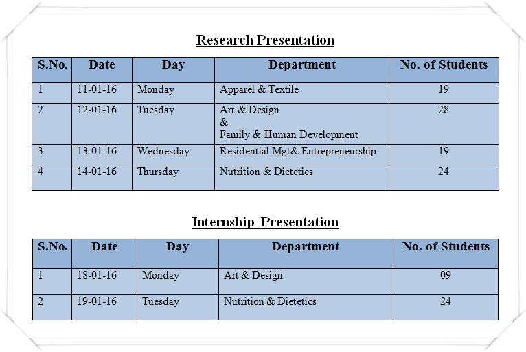 Research-&-Internship Schedule 2016