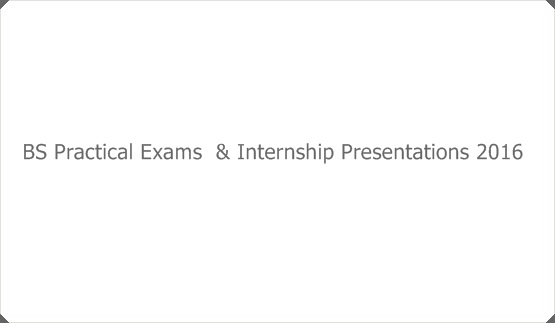 BS Practical Exams  & Internship Presentations 2016