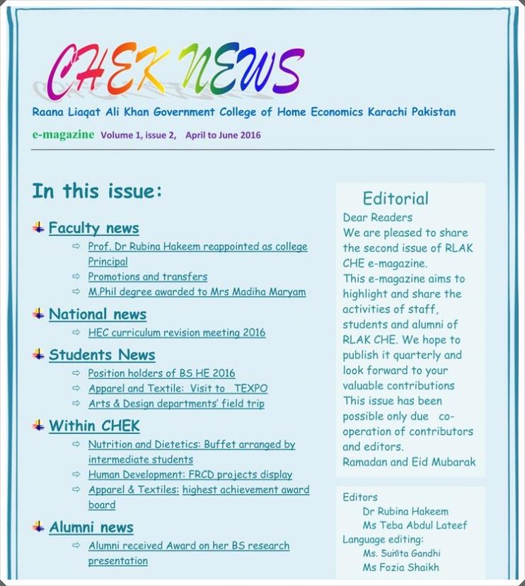 E Magazine Current Issue (Vol 1, No2, 2016)