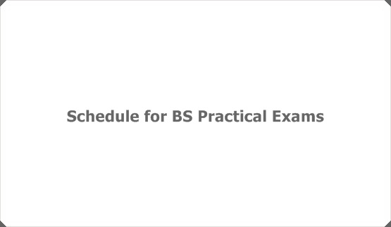 Schedule for BS Practical Exams