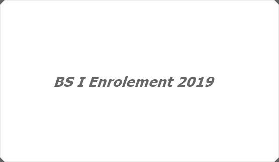 BS I Enrolement 2019