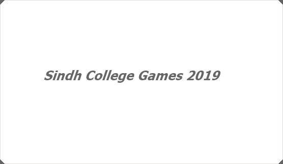 Sindh College Games 2019