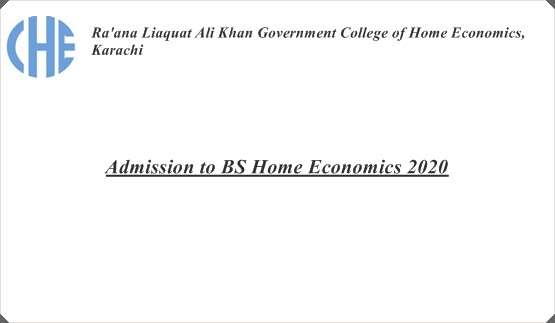 Admission to BS Home Economics 2020
