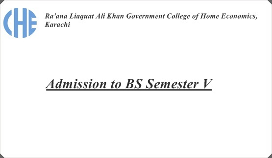 Admission to BS Semester V