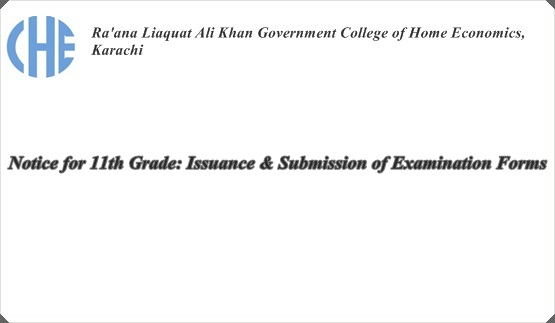 Notice for 11th Grade: Issuance & Submission of Examination Forms