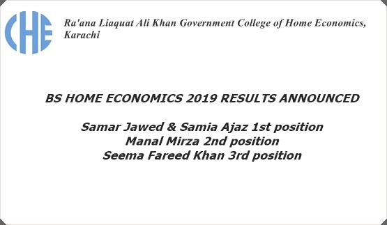 BS HOME ECONOMICS 2019 RESULTS ANNOUNCED!