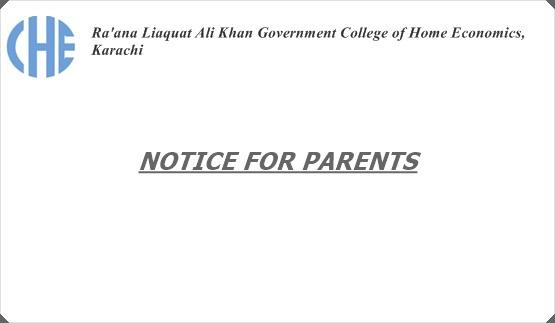 Notice for Parents