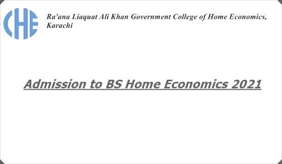 Admission to BS Home Economics 2021