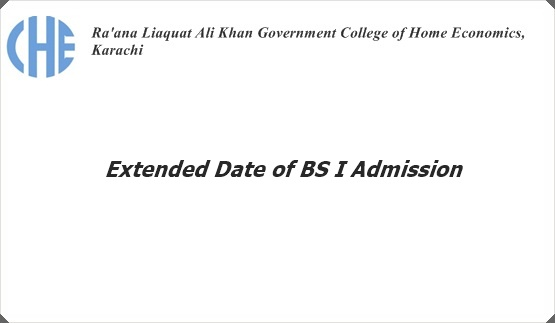 Extended Date of BS I Admission