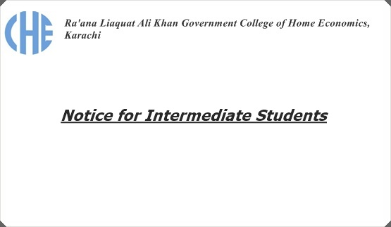 Notice for Intermediate Students